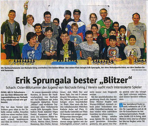 Jugend-Osterblitz 2016 Presse